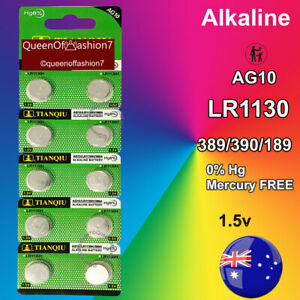 10 x LR1130 (AG10/390) Battery Queenof7 1.5V Alkaline Batteries Local EXP 2024
