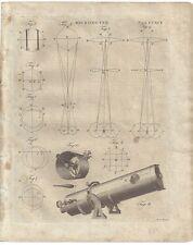 1798 MICROMETER catoptric & dioptric American print telescope microscope DOBSON