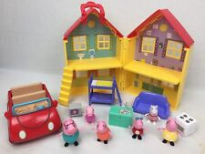 Peppa Pig Peppa's Deluxe Play House Playset w/ 6 Figures & 8 Accessories & Car