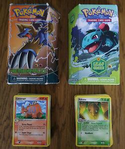 Pokémon EX Leaf Green + EX Emerald Theme Decks Trading Card TCG *INCLUDES CARDS*