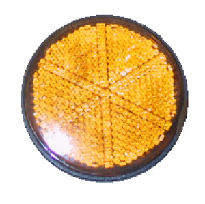 NOS Genuine Hodaka Front Side Amber Reflector Road Toad Wombat 250 175 SL