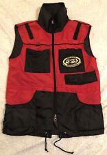 Elite K-9 Red Dog Training Vest Sz Small Removable Treat Pockets Full Zip EUC