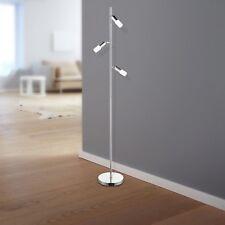 WOFI LED Lámpara de pie Atkins cromado 3 llamas altura 143 cm,Ø22 Cm ,15 vatios