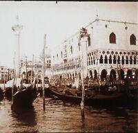 Venezia Italia Foto Stereo PL59L16n Placca Da Lente Vintage c1910