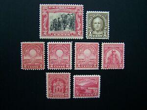 US STAMPS 1929 YEAR COMPLETE SET, SCOTT # 651-657, 680, 681. OG, MNH