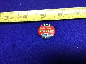 "1960s Baseball Stadium Crane's Potato Chips Pinback ""Cincinnati Red Legs"" Rare"