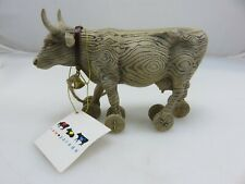 Westlands Cow Parade Model# 9130 PULL TOY Figurine In Original Box STAINED BOX