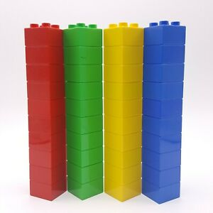 40 Lego Duplo 2 x 2 Bricks 3437 Blocks Building Red Green Yellow Blue