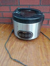 AROMA RICE COOKER  ARC998  used black silver appliance