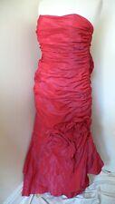 12-14 Linea Raffaelli Petal Bomb Style Evening Bridesmaid Prom Dress Red Taffeta