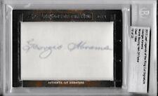Georgie Abrams 2013 Leaf Legends of the Ring Cut Signature Autograph Card /33