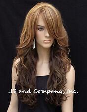 Loose wavy wig  bangs Heat Resistant Stunning Long Skin Top Multi color  wnta