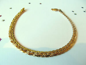 MEN'S 9ct Yellow Gold Plate Frosted Snake Bracelet