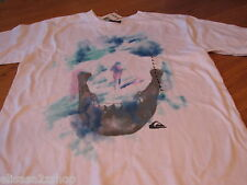 Boy's Quiksilver BTO youth childs T shirt XL skull face NEW NWT surf skate white