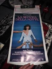 LOCANDINA ORIGINALE SERENA GRANDI LA SIGNORA DELLA NOTTE PRIMA EDIZIONE 1986