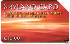 MYLAND CARD SCHEDA TELEFONICA TELECOM 330