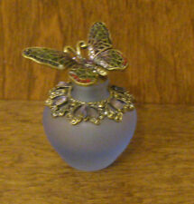 Welforth Enameled Perfume Bottle #PB465 BUTTERFLY mint/box NEW from Retail Store