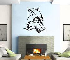 Wolf Head Predator  Animal  Decor Mural Wall Art Decor Vinyl Sticker z384
