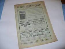 IL CACCIATORE ITALIANO RIVISTA CACCIA E PESCA N°44 1923