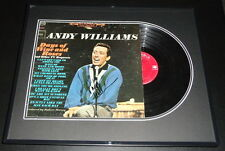 Andy Williams Signed Framed 1963 Days of Wine and Roses Record Album Display