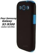 Belle étui Housse Coque pour Samsung, Galaxy S3 , i9300 , silicone, Noir/Bleu,..