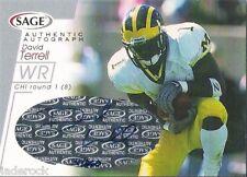 David Terrell 2001 Sage Rookie Signature Auto graph #/260 RC