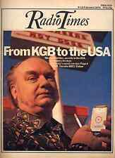 RADIO TIMES 9 FEB 1974 . KGB COVER . KNIGHTS OF THE ROUND TABLE . DOCTOR WHO