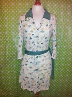 Superdry Vintage Thrift Collection 70's Style Shirt Dress - Size 8 - Mint