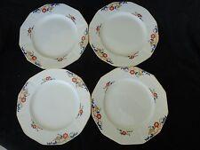 """Vintage! 4 Pc Set Of Dinner Plates 8"""", Myott Son & Co, JEANETTE 2045"""