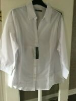 LITTLEWOODS WHITE WORK SHIRT BLOUSE  BY SOUTH SIZE 18  BNWT