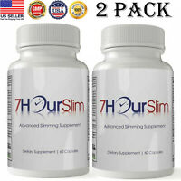 7 Hours Slim Fat Burner Diet Pills Advanced Weight Loss Slimming 120 Caps 2 pack