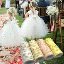 15cm*9.2m Tissue Tulle Roll Fabric Spool Craft Tulle Tutu Dress Gold Star Print