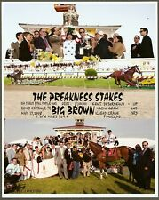 """2008 - BIG BROWN - 3 Photo Preakness Stakes Composite - 8"""" x 10"""""""