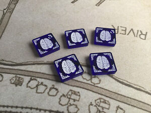 Arkham Horror LCG compatible, double sided acrylic sanity tokens x 5