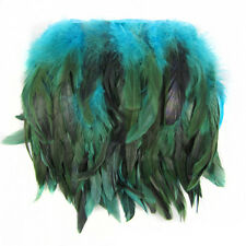 0.3/1M Rooster Hackle Coque Feather Fringe Craft Trim Sewing Costume Millinery