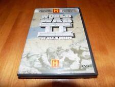 WORLD WAR II THE WAR IN EUROPE Germany D-Day History Channel 2 DVD SET LIKE NEW