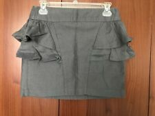 Primark Atmosphere Grey Peplum Mini Skirt Size UK 10