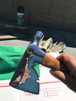 "Vintage Craftsman Axe Carpenter's Hatchet Hammer 13"" Long 22 oz Mirror Polish"