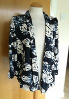 Ladies MONSOON JACKET Size M 10 12 Blue Smart Casual Floral