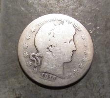 1911S Silver Barber Quarter