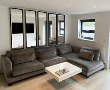 Excellent Large Dwell Lugano Corner Sofa In Grey Alba Velvet / Velour 299x222cm
