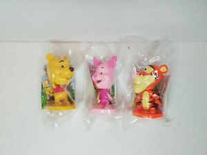 2005 Kellogg's Cereal Premium Disney Winnie the Pooh Bobble Head, Piglet, Tigger