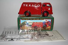 ERTL DIE CAST METAL COIN BANK, 1949 WHITE TILT CAB TANK TRUCK, TEXACO IN BOX