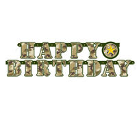 5ft Army Military Jointed Banner Boys Happy Birthday Party Decoration Supplies