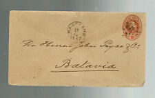 1897 Magafuane Netherlands indies postal stationery Cover to Batavia