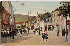19309 tolle AK Neudek in Böhmen Marktplatz mit Läden und Menschen 1911