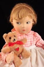 Rare Felt Cloth Handmade Dare Wright Edith The Lonely Doll By Haut Melton 1997