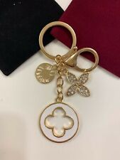 Crystals Designer Inspired Flower Love Key Chain Handbag Charm Purse Keychain