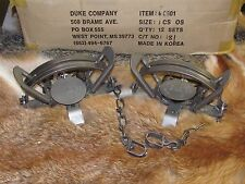 2 Duke#3 offset CoilSpring Traps Beaver Fox Bobcat Coyote Wolf Trapping NEW Sale