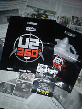 U2 360º TOUR - 1 OFFICIAL MERCHANDISE BAG + SPANISH PRESS CUTTING + PARTY FLYER